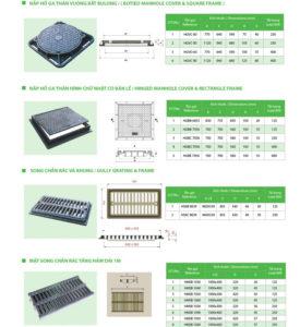 Catalogue Nắp hố ga MG